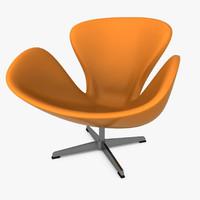 3ds swan chair