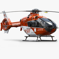 eurocopter h135 rescue helicopter 3d max
