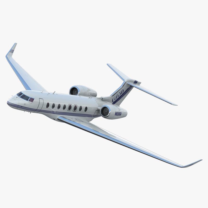 Gulfstream G650 Rigged 3d model 00.jpg