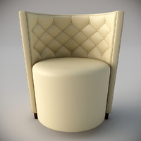 3d chair deco leather model