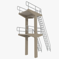 3d diving tower model