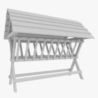 farm feeding rack 3d model