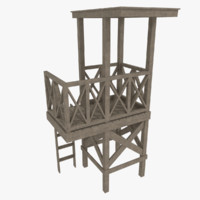 lifeguard tower 3d model