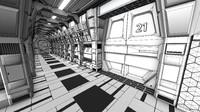 3d sci corridor model