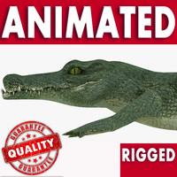 3d reptile crocodile