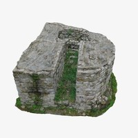 3d ruins 2 - tower model