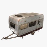 3d model old caravan