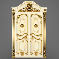 3d luxury classic baroque carved model