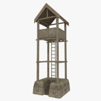 viking watchtower 3d model