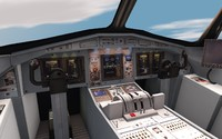 3d 3ds plane interior cockpit