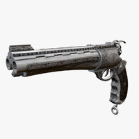 3d model paleorrevolver weapon metabarons