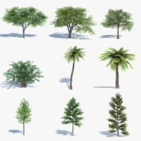 Low Poly Tree Set