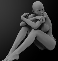 3d zbrush female character model