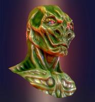 3ds max alien bust