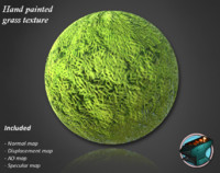 Handpainted grass texture