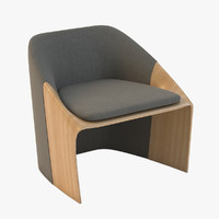 3d model of lounge chair