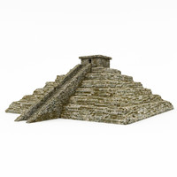 3d stone cliff model