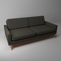 3d model of luna sofa interior