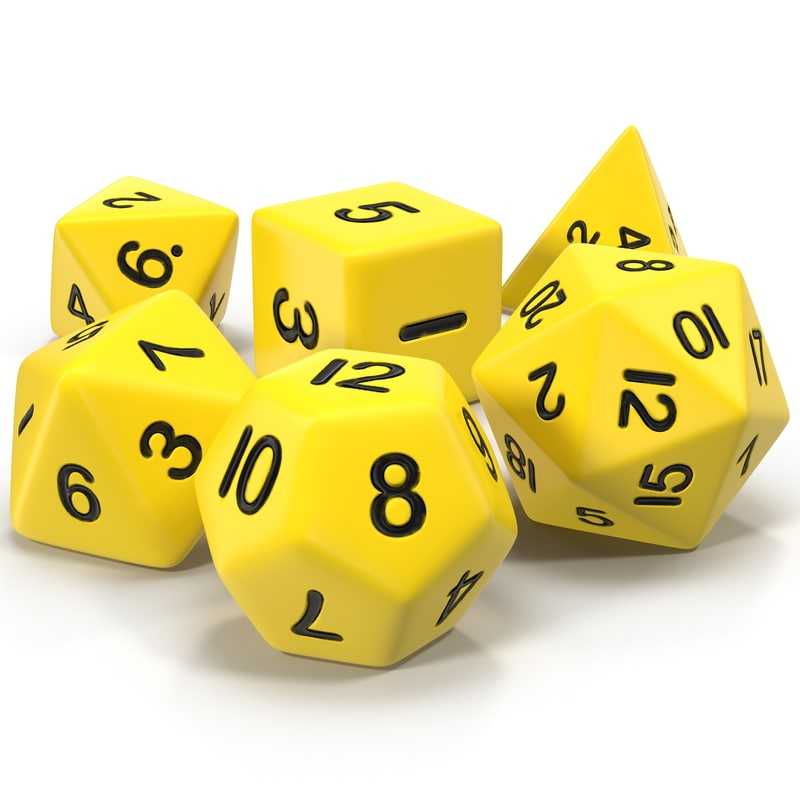 Polyhedral Dice Set Yellow 3d models 01.jpg