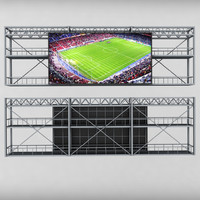 scoreboard stadium tv led 3d model