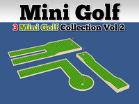 3d mini golf course 3 model