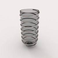 decorative spiral bowl obj