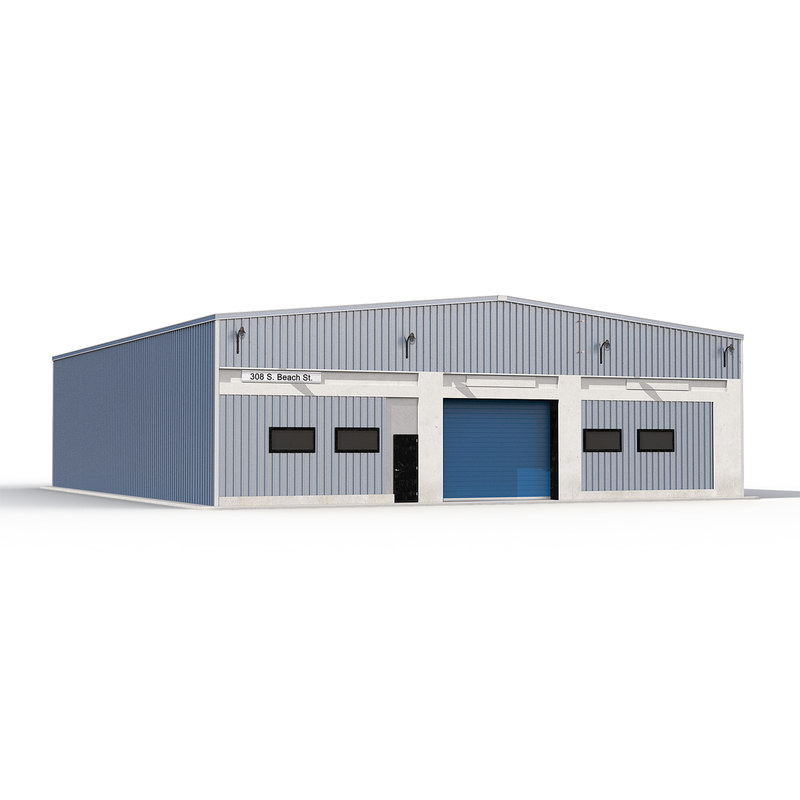 Warehouse Building Blue 3d model 01.jpg