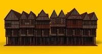 3d tudor street model
