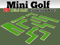 Mini Golf Course 10 Model Collection