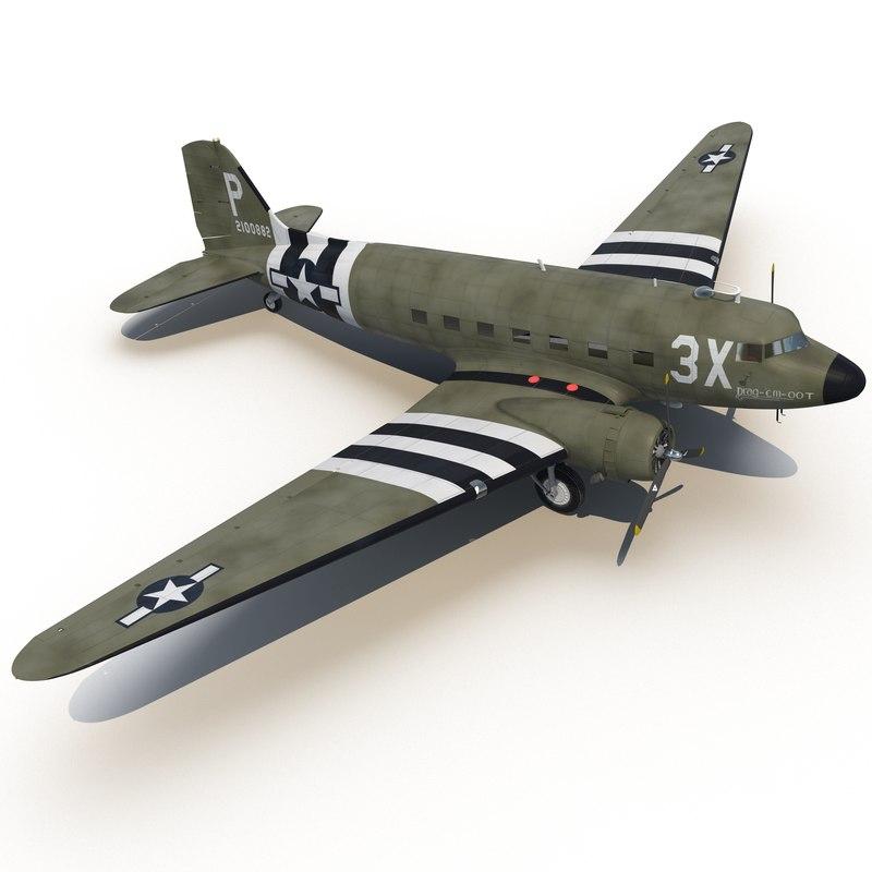 Douglas DC 3 3d model 01.jpg