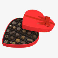 heart chocolate box 3d model