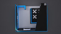 ERT BLUE exhibition stand 3d model
