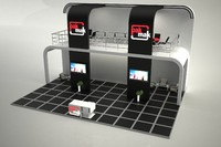 free fair stand exhibition 3d model