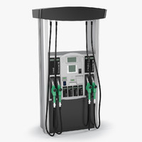 3ds max realistic fuel dispenser
