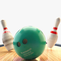 bowling pins balls lane 3ds