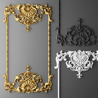 3d model baroque frame