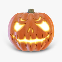 halloween pumpkin 2 3d obj