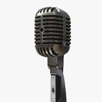 microphone mic retro 3d model