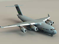 globemaster interior c-17 transport 3d model