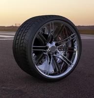 3d model custom wheel car