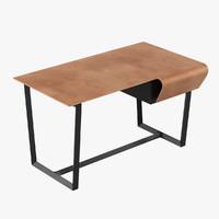 poltrona frau fred desk 3d model