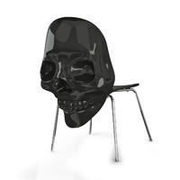 3dsmax black skull chair