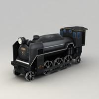 3d model of train