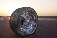 custom wheel tyre 3d model