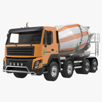 cement mixer vehicle lafarge 3d max