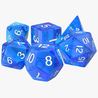 Polyhedral Dice Set Blue