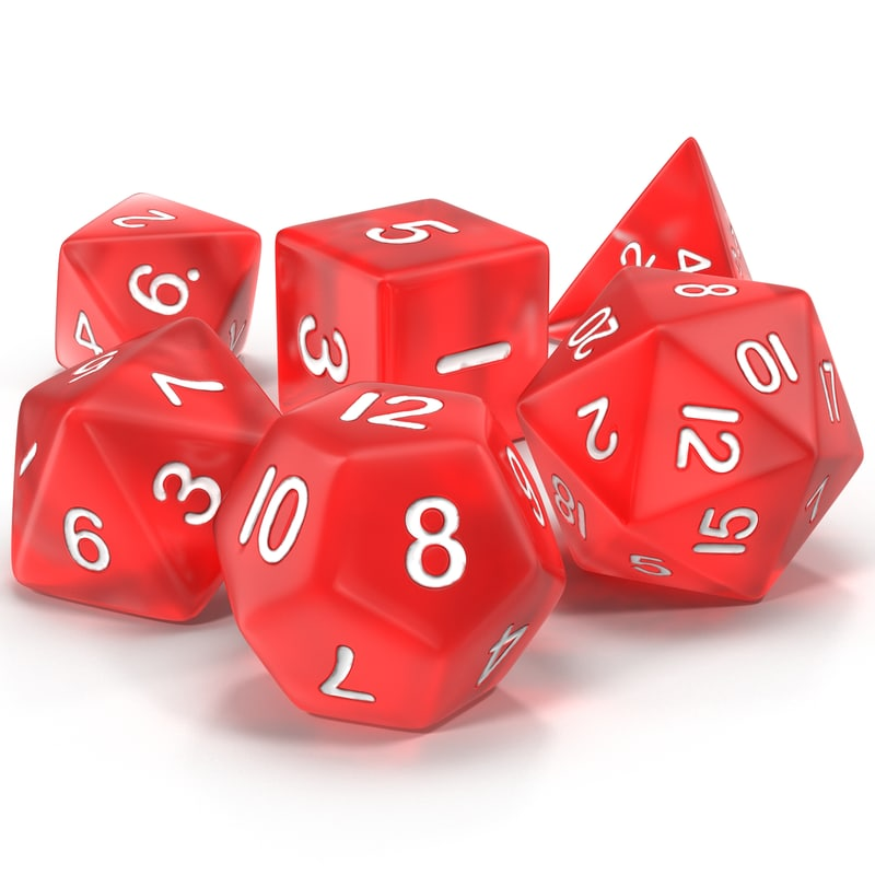 Polyhedral Dice Set Red 3d model 01.jpg