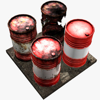 blank red barrel - 3d model