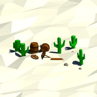 cartoon cactus 3ds