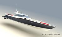 3d model sport fisherman yacht